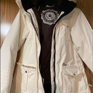 Orage Cream Winter Jacket